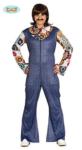Costume anni 80 uomo salopette con camicia sgargiante