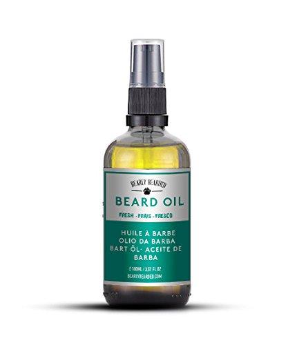 Beard-Oil-by-Bearly-Bearded-Fresh-Light-Fragrance-Perfect-for-Summer-Moisturiser-and-Softener-100-Organic-Fresh-Light-Citrus-Fragrance-Protects-and-Hydrates-100ML