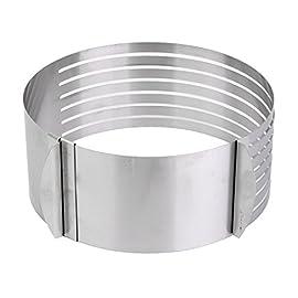 Set di 6 anelli quadrati in acciaio inox per torta mousse mousse e pasticceria strumento da forno resistente al calore