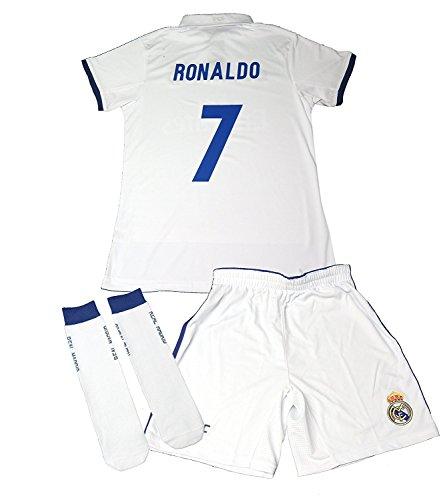 f34bc85cb0e15 REAL MADRID- Kit 1ª Equipación Infantil 2016-2017 Réplica Oficial Cristiano  Ronaldo- Talla