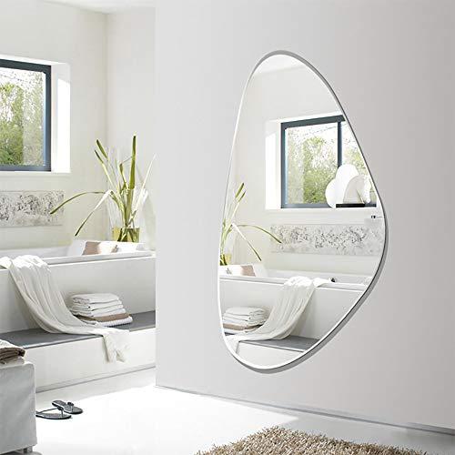 QJJML HäNgespiegel Wand,Flurspiegel Modern,Passender Spiegel Schlafzimmer HäNgende Wand HäNgende KöRperspiegel/Bad Einfache Kosmetikspiegel Dekoration Frisierkommode,100×60CM -