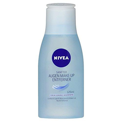 NIVEA Sanfte Augen Make-Up Entferner Lotion für wasserlösliche Mascara und Make-Up, 125 ml Flasche (Sanfte Augen Entferner Make-up)
