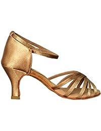 VASHCAME - Donna Scarpe da Ballo Latino Sala da Ballo Standard Tacco 5cm  837ba90cdc1