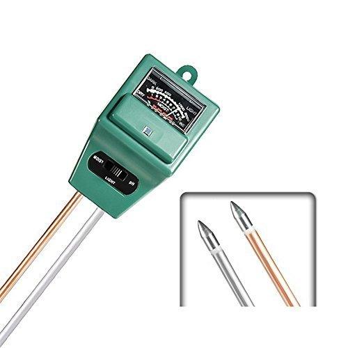 Hense Digital 3in 1Wasser Feuchtigkeit PH-Boden Analysegerät Detektor Tester Werkzeug, Tester Sensor Monitor für Garten Pflanze Blumen (HST01)