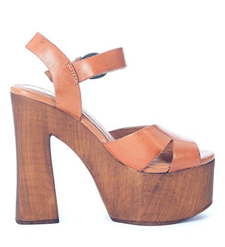 Sandale Windsor Smith Jagga en cuir marron camel Cuir