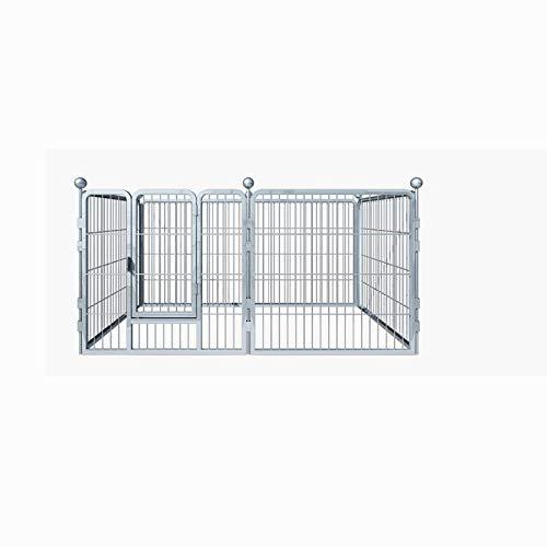 Barrière pour Animaux, Porte intérieure pour clôture pour Petit Chien, Fer Gras/Tube carré - Porte d'isolement, 5 Couleurs