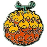 One Piece Flame-Flame Fruit Unisex Spilla arancione metallo