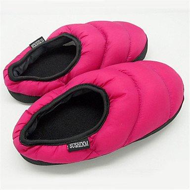 zhENfu donna pantofole & amp; flip-flops inverno Comfort informale di cotone tacco piatto Nero Fuchsia rosso verde blu Fuchsia