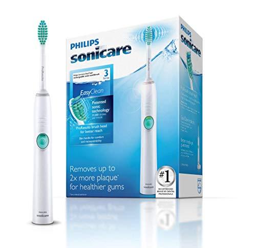 Philips sonicare hx6511/50 easyclean, spazzolino elettrico con tecnologia sonicare, 1 programma di pulizia