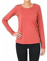 8aaa7880b0a2ae Damen Langarmshirt 100% Bio-Baumwolle GOTS Oberteil Pyjamaoberteil Nachtwäsche  Schlafanzug T-Shirt