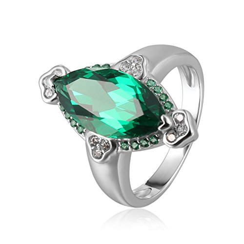 JewelryPalace 3.9ct Marquise Nano Russisch Simulierter Ring 928 Sterling Silber