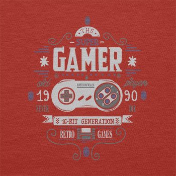 TEXLAB - The Super Gamer - Herren T-Shirt Rot