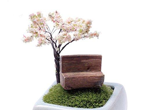 wicemoon Micro Künstliche Landschaft Ornaments Halblange Park Bench Miniatur Moos Mini Bank für Garten Bonsai Home DIY Dekoration