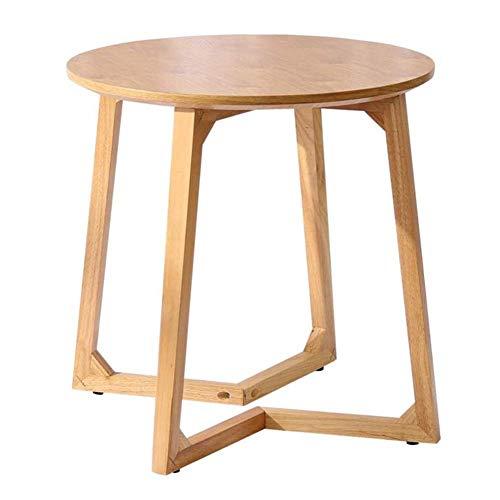 NISJO Tische Mid-Century Modern End Nachttisch Wohnzimmer Seite/Akzent Runde Tischplatte Gummi Holz Beine (Color : A) -