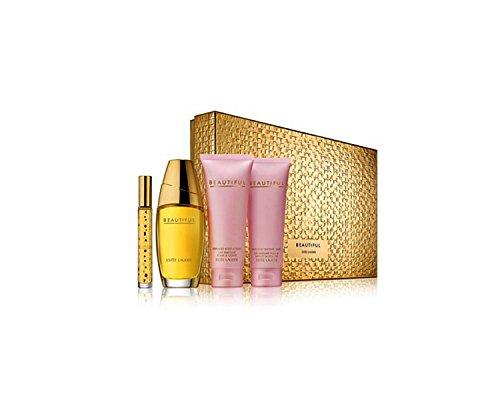 Estée Lauder Beautiful Romantic Destination Geschenkset für Sie (Eau de Parfum Spray 75ml, Bodylotion 100ml, Duschgel 100ml + Mini-Eau de Parfum 6ml)