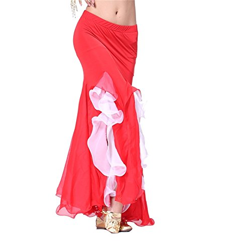 Donne Danzawea Danza del ventre Gonne Tribal Lotus Edge Danza Costumes Maxi Gonne Mermaid Vestito