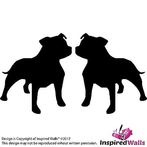 Staffy Staffordshire Bull Terrier Dog Car Van Window Bike Stickers
