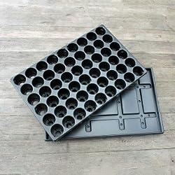 Stabile Anzuchtsplatte mit 54 Pflanzlöchern + Untersetzer QuickPot QP-54R