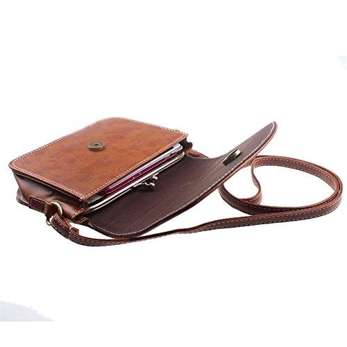 Longra Limitazione del sacchetto di cuoio della spalla delle donne Cachi Venta Paga Con Paypal Disfrutar De Las Compras ANo40XhBPc
