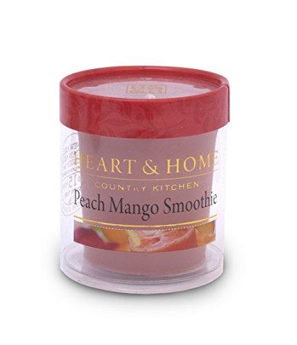 Heart & Home Duft-Votivkerze Peach Mango Smoothie, 50g