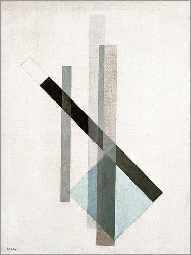Posterlounge Leinwandbild 100 x 130 cm: Konstruktion (Glas-Architektur) von László Moholy-Nagy/akg-Images - fertiges Wandbild, Bild auf Keilrahmen, Fertigbild auf echter Leinwand, Leinwanddruck