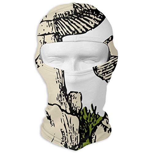 nencreme Hüte Skimaske Farbige Pilze Sonne UV-Schutz Staubschutz Winddicht Gesichtsmaske für Laufen Radfahren Angeln New1 ()