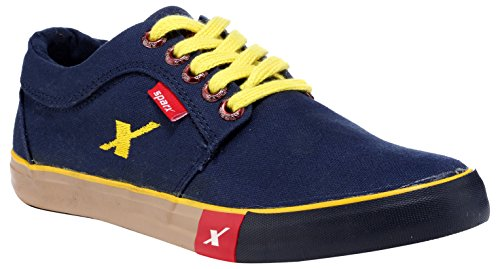 Sparx Men's Navy and Blue Sneakers - 8 UK/India (42 EU)(SC-175)