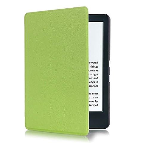 Ibestwin Ultra fin Housse de protection pour Kindle 8e génération | Fonction automatique de réveil sommeil Coque pour Amazon Kindle E-reader 15,2cm sans Reflets Green
