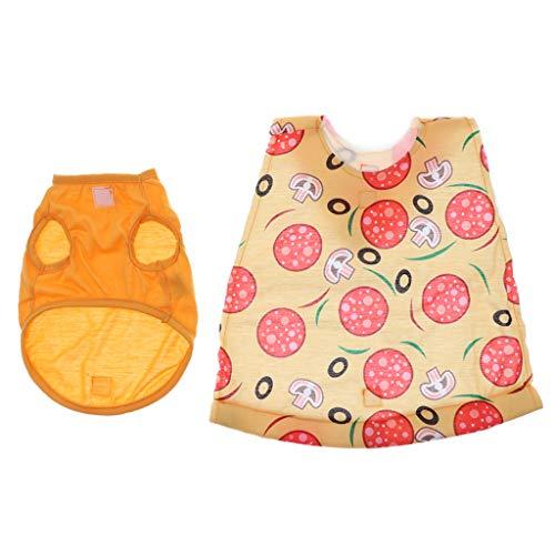 en Umhang Poncho Pizza Cosplay Anzug mit Hut für Halloween Karneval Party - L ()