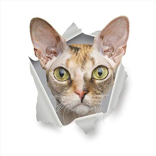 3D Katze Bad Wand Aufkleber Wc Sitz Aufkleber Erinnern kühlschrank Dekoration Tier Aufkleber Kunst Aufkleber Wand Poster h2 30x45cm
