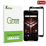[2 Pack] Asus ROG Phone Protecteur D'écran, KATIAN Ultra-thin Film [Anti-empreintes][Résistant aux Rayures][sans Bulles] HD Haute Transparence Verre Trempé pour Asus ROG Phone (Noir)