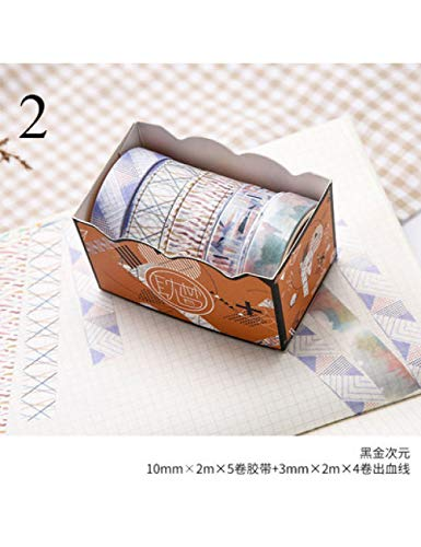 ASTTY Washi Tape 9 Stücke Washi Klebeband Set Kawaii Masking Tape Dekorative Klebeband Für Kid DIY Scrapbooking Tagebuch Fotos Alben , 2 - Album Kawaii Foto