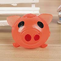 HuXwei 2pcs Cute Anti Stress Splat Water Pig Ball Vent Toy Venting Sticky Smash Squeeze Novelty Shocker Gags Jokes Prank Toys-Red,6cm