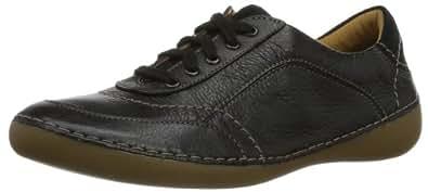 Clarks Fashion Glitz 203580284 Damen Sneaker, Schwarz (Black Leather), EU 36