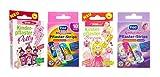 Kinderpflaster/Pflaster / Stripes für Kinder im Set - mit tollen bunten Motiven - wählbar: Kunterbunt – Prinzessin – Einhorn – Tiere - Cartoon/für Mädchen (Prinzessin 40 Stück)