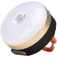 FTYtek Linterna de Camping LED con 4 Modos, Luz Portátil LED para Tienda de Campaña, Linterna Ultra Brillante para Tienda de Campaña para Interior y Exterior Camping Senderismo Pesca(Amarillo)
