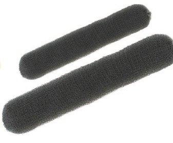 Efalock Professional Knotenring mit Druckknopf, 23 cm, dunkel, 1er Pack, (1x 1 Stück)