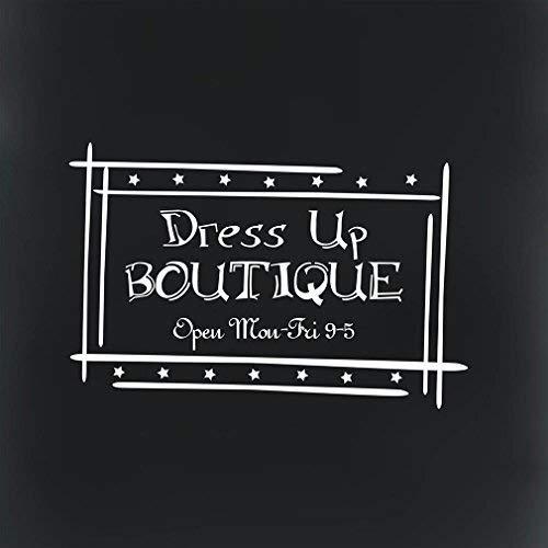 Dress Up Boutique Open: Mon Fri 9 5 Novelty Aluminum Metal Sign Tin Signs 12