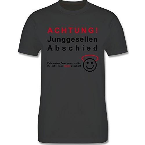 JGA Junggesellenabschied - Achtung Junggesellenabschied - Herren Premium T-Shirt Dunkelgrau