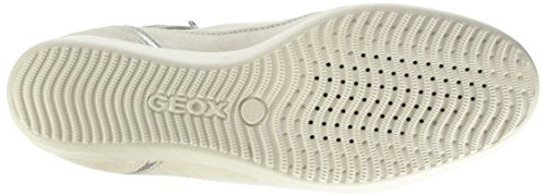Geox D Stardust A, Scarpe Low-Top Donna Grigio (Lt Grey/Off White)