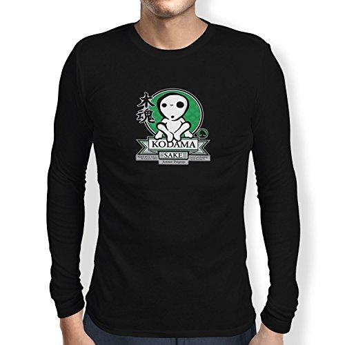 TEXLAB - Kodama Sake - Herren Langarm T-Shirt, Größe M, (Kostüm Wolf Mononoke Prinzessin)