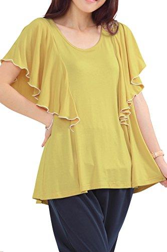 ST4087 Top de grossesse et d'allaitement à manches courtes yellow