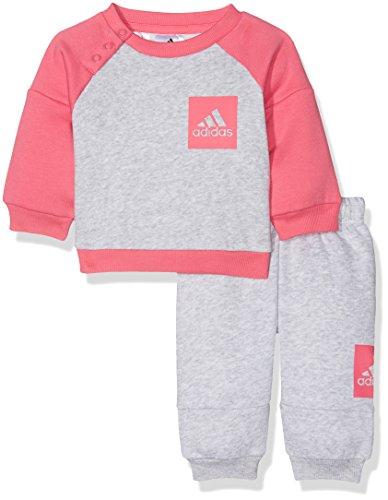 adidas I Sp Fleece Jog, Sweatshirt Unisex Kinder, I Sp Fleece Jog, Grigio (Grigio/Rosa), 98