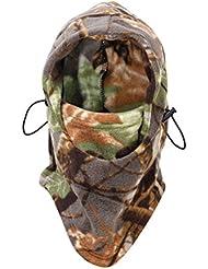Pixnor Chasse en plein air escalade plein visage protecteur de capot tête Hat Woodland Camouflage