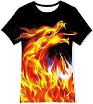 TUONROAD Camisetas Niños Camiseta de Manga Corta para Niña 3D Verano Top T Shirts 6-14 Años