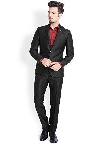 Parx Black Solid Men's Suit