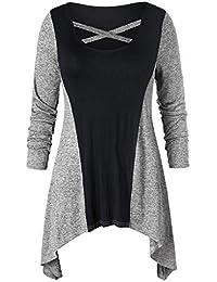 87ce89cb04ca MORCHAN❤ Femmes Automne Hiver Solide Hoodie Sweatshirt Cardigan Mode Manteau  Blouson Loose Tunique Long à