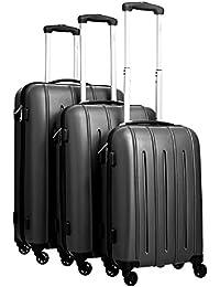 Pure maletín Colorful/maletín de Juego/bolsa de viaje rígida/equipaje de mano/Juego/Maleta con ruedas/ABS/4ruedas/Candado..., negro, xx-large
