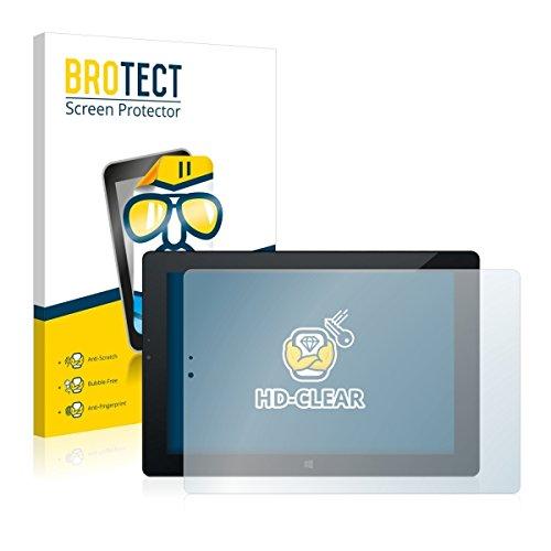 2X BROTECT HD Clear Bildschirmschutz Schutzfolie für Odys Windesk X10 (kristallklar, extrem Kratzfest, schmutzabweisend)