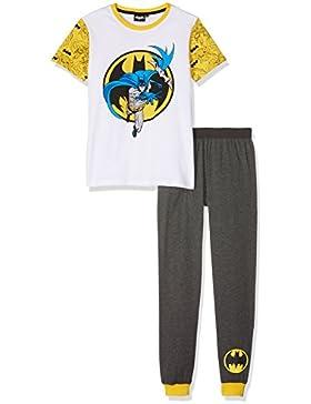 Batman vs Superman Jungen Pyjama Schlafanzug - weiß